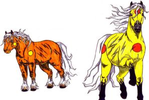 Electric type horse Fakemons by Punkkis-chan