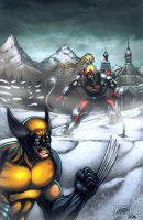 Wolverine Vs Omega Red by Arciah