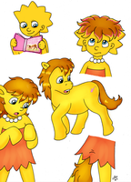 Lisa Simpson into Pony commish by RustyRaccoon