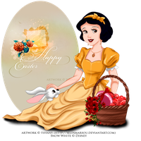 Easter with Snow White by selinmarsou