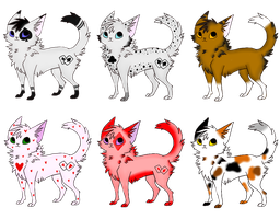 Cat Adoptables 3 -CLOSED- by Reedified