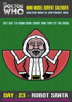 Advent Calender - Day Twenty Three : Robot Santa by mikedaws
