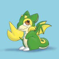 ChibiRyuu: Snivy by NeoTheBean