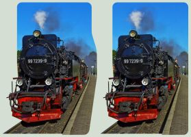 Steam Train 3D ::: HDR Cross-View Stereoscopy by zour