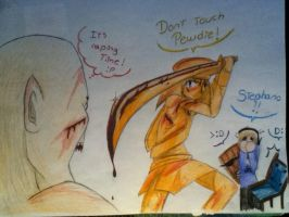 Don't touch PewDie!! by judy2468