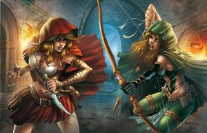 Robyn Hood vs Red Riding Hood C D by Yleniadn86