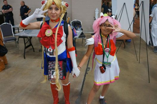 Sailor Moon and Mini Moon by LordRedemptionBlaze