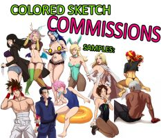 COMMISSIONS OPEN - COLORED SKETCH STYLE by Mafer