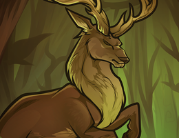 Buck Deer by Dragoart