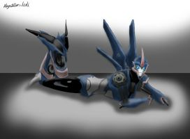 Arcee lying down by Playstation-Jedi