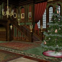 Mansion Hall - Xmas by markopolio-stock