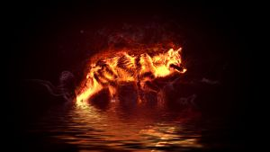 Fire Wolf by Hemamm