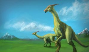 Parasaurolophus by HeadcrabeD