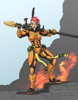 Fire Dragon Exarch_wip by thevampiredio