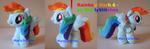 Rainbow Dash #6 (mini sized) by ManlyStitches