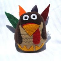 Stuffed Turkey Plush Toy by ZodiacEclipse
