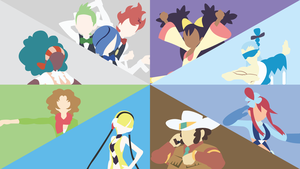 Unova Gym Leaders Comp. (White) by DashingHero