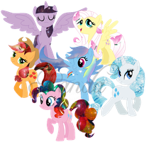 Manes of Destiny: The Elements of Harmony by iPandacakes