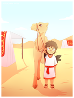 Chilling with a camel by Rigiroony