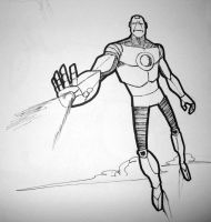 Iron Man Sketch by Sir-Unforgiven