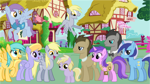Whooves Family Portrait (UPDATED VERSION) by Bronyman1995