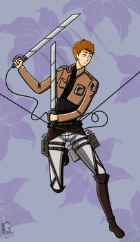 Me in Attack on Titan by LimeDane21