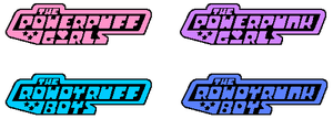 Powerpuff Girls single-coloured logo designs by szemi