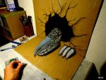 3D Drawing - 3D Dragon by NAGAIHIDEYUKI