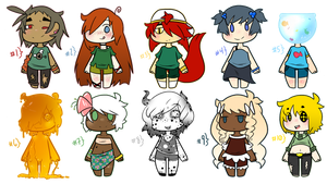 Chibi Flavor Adopts (Set Two) (4/10 Open!) by Vad-Kun