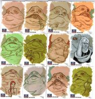 STAR WARS Sketchcards - Jabba by DenisM79