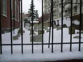Cemetery in snow by KaraSkirata