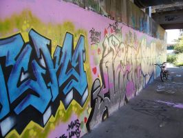 tagged canal wall by bearscanbemean