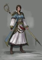 Cleric lady sketch by Timkongart