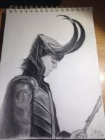 Loki | Pencil Drawing by MissWeasleyJB