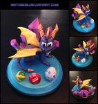 Spyro Sculpture by Gatobob