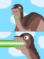 Brontosaur used green energy blast by MCsaurus