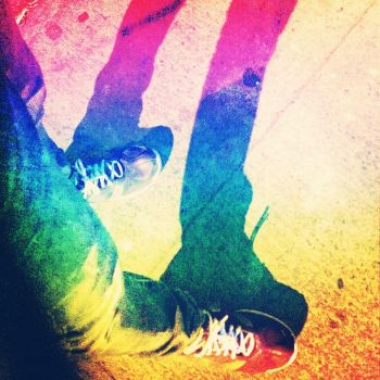 Rainbow Shoes by Aiztram