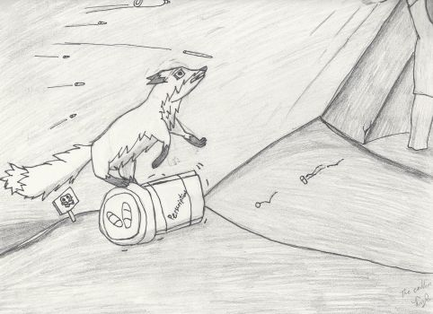 Scanned Hill Climbing Fox by Tyknapp
