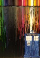 Doctor Who Melted Crayon Art by stellapine