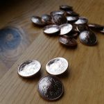 Copper coin buttons by LARvonCL