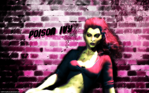 Poison Ivy Wall Background by badtrane