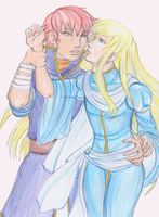 Lucius and Raven by X-Tidus-kisses