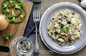 Risotto with chicken and mushrooms by MirageGourmand