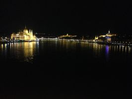 Budapest Skyline at Night by KaterinaTouche