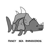 Fancy Sea Rhinoceros by arseniic