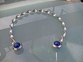 Twisted Torc with blue beads by ou8nrtist2