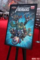 Custom Designed Avengers Movie Poster Auction by davidyardin
