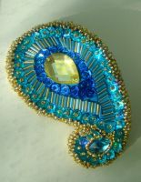 Paisley Barrette by auntLilith