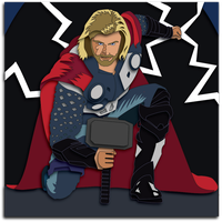 Shadowbox Mock-up: Thor by The-Paper-Pony