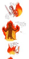 Cat to a Flame by WolfRocket